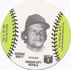 1977 Burger Chef Fun Meal Discs #NNO George Brett Front