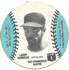 1977 Burger Chef Fun Meal Discs #NNO Larry Herndon Front