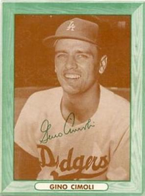 1958 Bell Brand Los Angeles Dodgers #2 Gino Cimoli Front