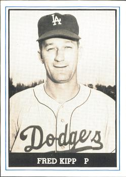 1980 TCMA 1959 Los Angeles Dodgers Black & White #40 Fred Kipp Front