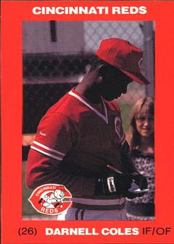 1992 Kahn's Cincinnati Reds #NNO Darnell Coles Front