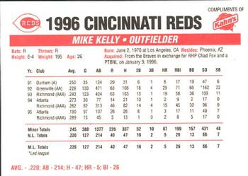 1996 Kahn's Cincinnati Reds #NNO Mike Kelly Back
