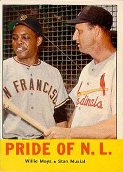 1963 Topps #138 Pride of the N.L. Front
