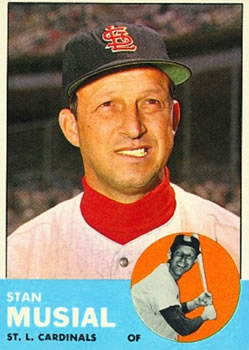 1963 Topps #250 Stan Musial Front