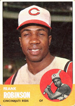 1963 Topps #400 Frank Robinson Front