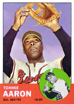 1963 Topps #46 Tommie Aaron Front