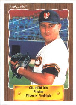 1990 ProCards #6 Gil Heredia Front