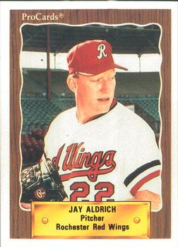 1990 ProCards #695 Jay Aldrich Front