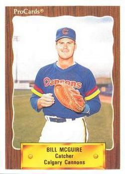 1990 ProCards #575 Bill McGuire Front