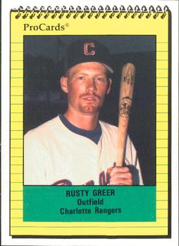 1991 ProCards #1325 Rusty Greer Front