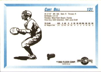 1993 Fleer/ProCards #131 Curt Bell Back