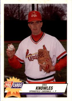 1993 Fleer ProCards #1846 Greg Knowles Front