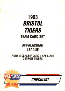 1993 Fleer/ProCards #3668a Checklist Front