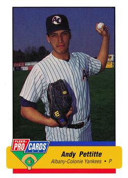 1994 Fleer/ProCards #1438 Andy Pettitte Front
