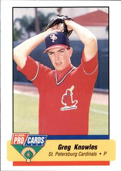 1994 Fleer ProCards #2580 Greg Knowles Front