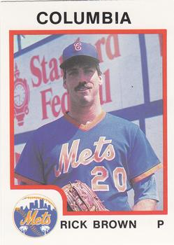 1987 ProCards #1634 Rick Brown Front