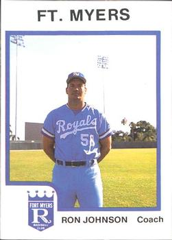 1987 ProCards #2253 Ron Johnson Front