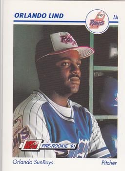 1991 Line Drive AA #484 Orlando Lind Front