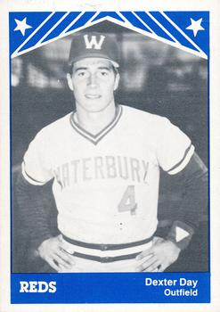 1983 TCMA Waterbury Reds #16 Dexter Day Front