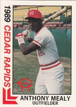 1989 Best Cedar Rapids Reds #21 Anthony Mealy Front