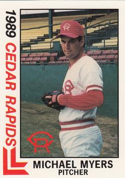 1989 Best Cedar Rapids Reds #5 Mike R. Myers Front