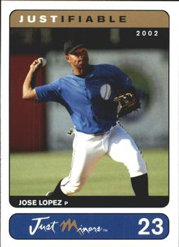 2002-03 Justifiable #23 Jose Lopez Front