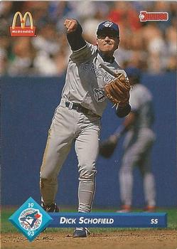 1993 Donruss McDonald's Toronto Blue Jays Great Moments #30 Dick Schofield Front