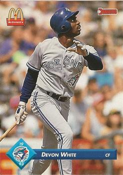 1993 Donruss McDonald's Toronto Blue Jays Great Moments #31 Devon White Front