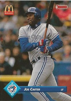 1993 Donruss McDonald's Toronto Blue Jays Great Moments #32 Joe Carter Front