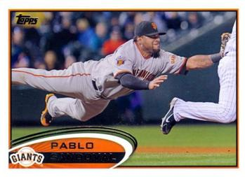 2012 Topps #185 Pablo Sandoval Front