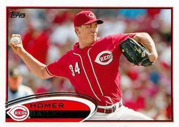 2012 Topps #659 Homer Bailey  Front