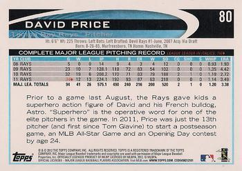 2012 Topps #80b David Price Back