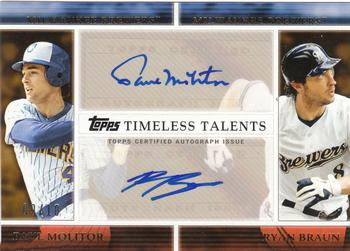 2012 Topps - Timeless Talents Dual Autographs #TTDA-MB Paul Molitor / Ryan Braun Front