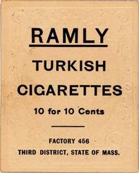 1909 Ramly Cigarettes T204 #19 Fred Burchell Back