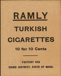 1909 Ramly Cigarettes T204 #68 Vive Lindaman Back