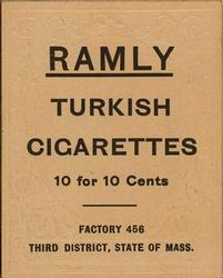 1909 Ramly Cigarettes T204 #70 Harry Lord Back