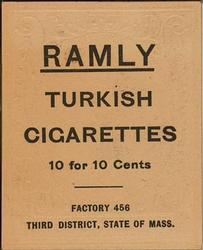 1909 Ramly Cigarettes T204 #110 Tubby Spencer Back