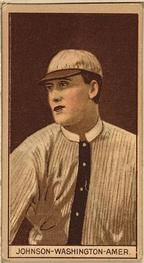 1912 Brown Backgrounds T207 #87 Walter Johnson Front