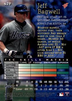 1996 SPx #29 Jeff Bagwell Houston Astros Baseball Card