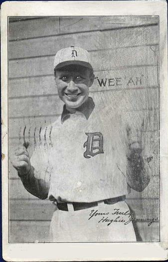 1909-11 H.M. Taylor Detroit Tigers PC773-2 #NNO Hughie Jennings Wee Ah; Yours Truly Front