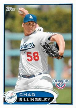 2012 Topps Opening Day #205 Chad Billingsley Front