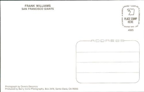 1985 Barry Colla Postcards #4885 Frank Williams Back