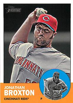 2012 Topps Heritage #H598 Jonathan Broxton Front