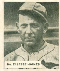 1936 World Wide Gum V355 #93 Jesse Haines Front