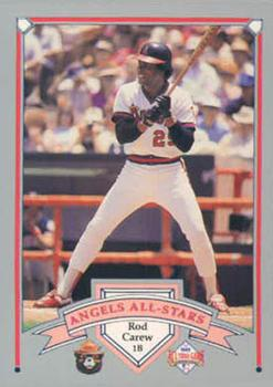 1989 California Angels Greats Smokey #10 Rod Carew Front
