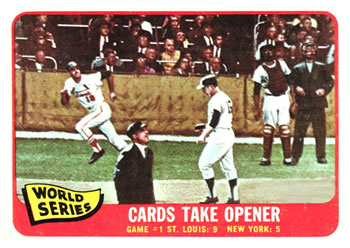 1965 Topps #132 World Series Game 1 - Cards Take Opener Front