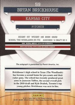 2011 Donruss Elite Extra Edition - Franchise Futures Signatures #59 Bryan Brickhouse Back