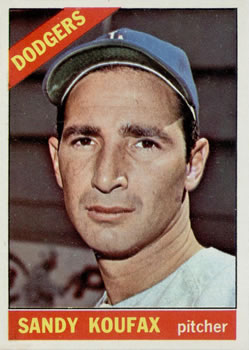 1966 Topps #100 Sandy Koufax Front