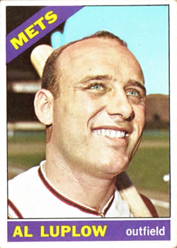 1966 Topps #188 Al Luplow Front