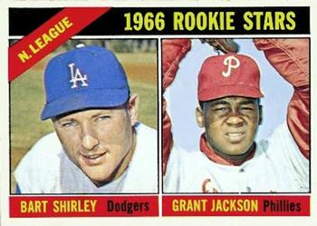 1966 Topps #591 NL Rookies - Bart Shirley / Grant Jackson Front